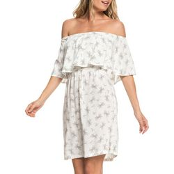 Roxy Juniors Flowers Everyday Off The Shoulder Dress