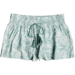 Roxy Juniors Oceanside May Flowers Beach Shorts