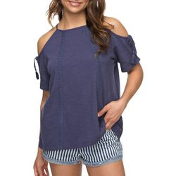 Roxy Juniors Hills Of Love Cold Shoulder Top