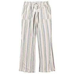 Roxy Juniors Oceanside Multi Stripe Linen Flare Pants