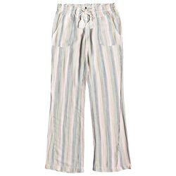 Roxy Juniors Oceanside Multi Stripe Linen Flare Pants