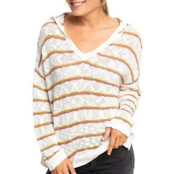 Juniors Striped Long Sleeve Knit Sweater