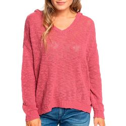 Juniors Sandy Bay Beach Solid Hooded Poncho Top
