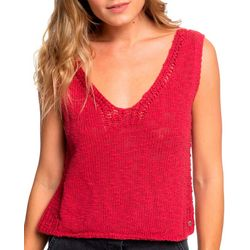 Roxy Juniors Blooming Season Solid Slub Knit Tank
