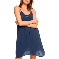Roxy Juniors Bloom Solid Strappy Dress