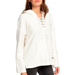 Roxy Juniors Would You Believe Solid Lace-Up Hoodie