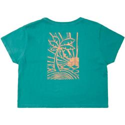 Juniors Sunset Day Cropped T-Shirt