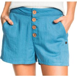 Roxy Juniors Caramel Beach 2 Buttoned Shorts