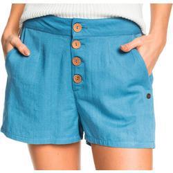 Juniors Caramel Beach 2 Buttoned Shorts