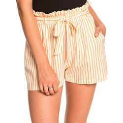 Roxy Juniors Be My Darling Paper Bag Shorts