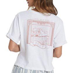 Roxy Juniors Back Screen Print Crew T-Shirt