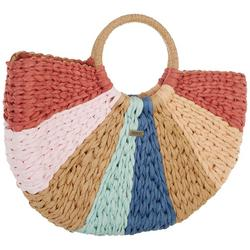 Salt Water Therapy Wedged Straw Beach Tote