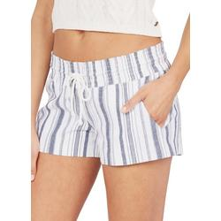 Juniors  Striped Drawstring Shorts
