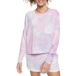 Roxy Juniors Surf Girl Tie-Dye Pocketed Top