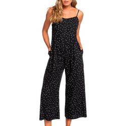 Roxy Juniors In A Sunrise Dotted Wide Leg Jumpsuit