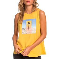 Roxy Juniors Sleeveless Single Palm Tank Top
