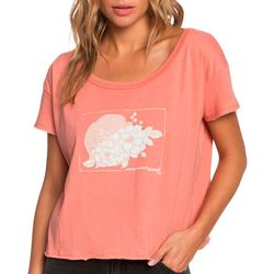 Roxy Juniors Smell The Roses Screen Print T-Shirt