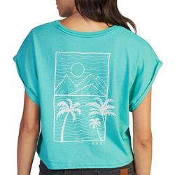 Juniors Beach Day Cropped T-Shirt