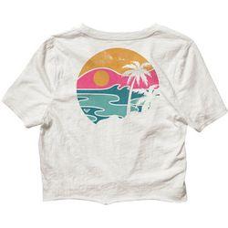 Juniors Tie Front T-Shirt