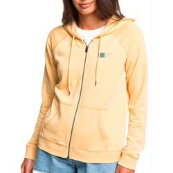 Roxy Juniors Wait For Waves Zip Up Hoodie Jacket