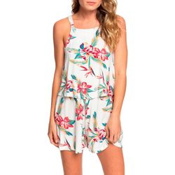Roxy Juniors Favorite Song Tropical Floral Strappy Romper