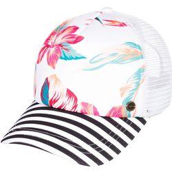 Roxy Juniors Beautiful Morning Tropical Floral Trucker Hat