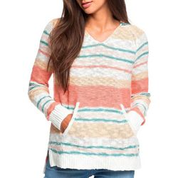 Roxy Juniors Airport Vibes Hooded Poncho Sweater
