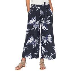 Roxy Juniors Ready Beachy Vibes Tropical Wide Leg Pants
