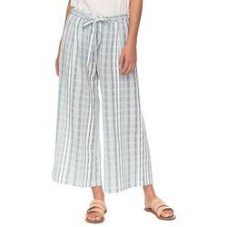 Roxy Juniors Ready Beachy Vibes Striped Wide Leg Pants