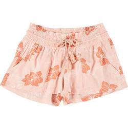 Juniors Oceanside Floral Print Shorts