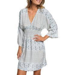 Roxy Juniors Free Mind Temple Kimono Sleeve Dress