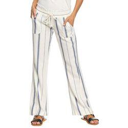 Roxy Juniors Oceanside Stripe Linen Flare Pants