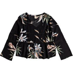 Roxy Juniors Heat Of Banjar Floral Top