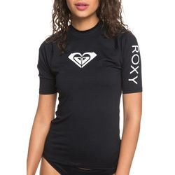 Roxy Juniors Whole Hearted Short Sleeve Rashguard