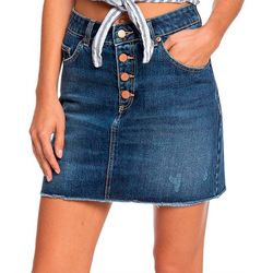 Juniors Surfing Girl Denim Skirt