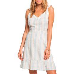 Juniors Sunday With You Striped Sleeveless Dress