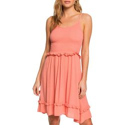 Roxy Juniors Ruffle Waist Solid Sleeveless Sundress