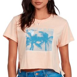 Roxy Juniors It's Better By the Beach Cropped T-Shirt