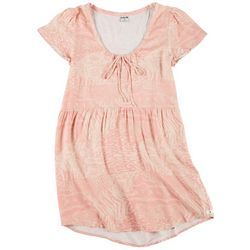 Hurley Juniors Kate Floral Print Babydoll Dress