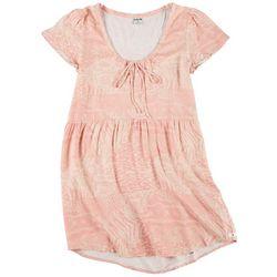 Hurley Juniors Kate Floral Print Babydoll Dress