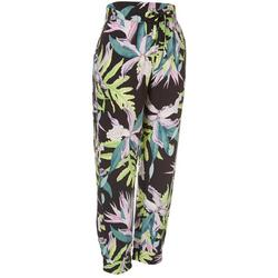 Juniors Floral Soft Pull On Elastic Pants