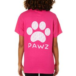 PAWZ Juniors Breast Cancer Awareness Short Sleeve T-Shirt