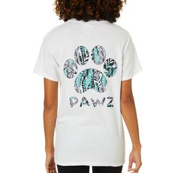 PAWZ Juniors Palm Tree Paw Print Short Sleeve T-Shirt