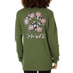 PAWZ Juniors Rose Paw Print Short Sleeve T-Shirt