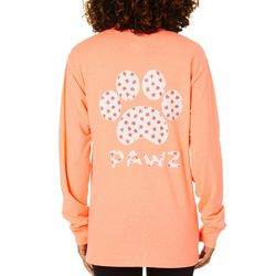 PAWZ Juniors Daisy Paw Print Short Sleeve T-Shirt