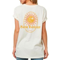 Juniors Sun Lover Graphic T-Shirt