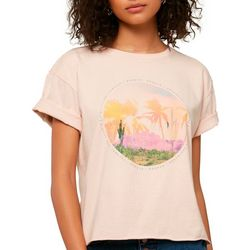 O'Neill Juniors Wonder Palm Tree Screen Print T-Shirt