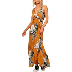 O'Neill Juniors Rubia Floral Halter Maxi Dress