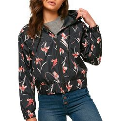 Juniors Rainfall Floral Windbreaker