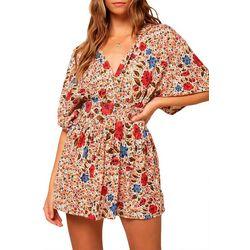 O'Neill Amaze Floral Print Wrap Suplice Dress